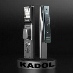 Lắp đặt khóa cửa vân tay K789 trên giá xoay